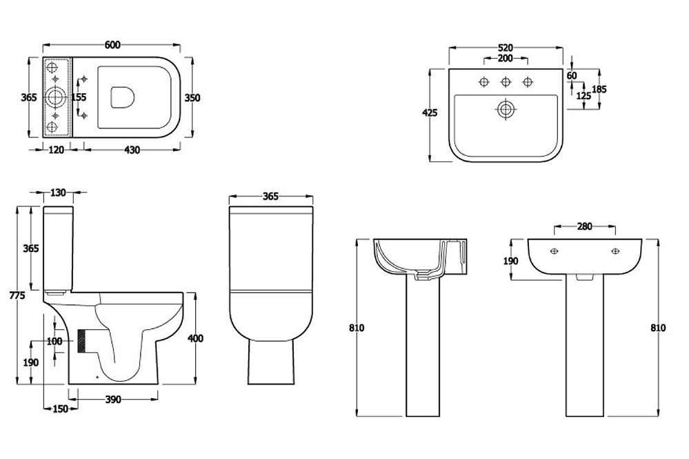 Series 600 Toilet Amp Basin Set Rak Modern Basin Amp Toilet Sets