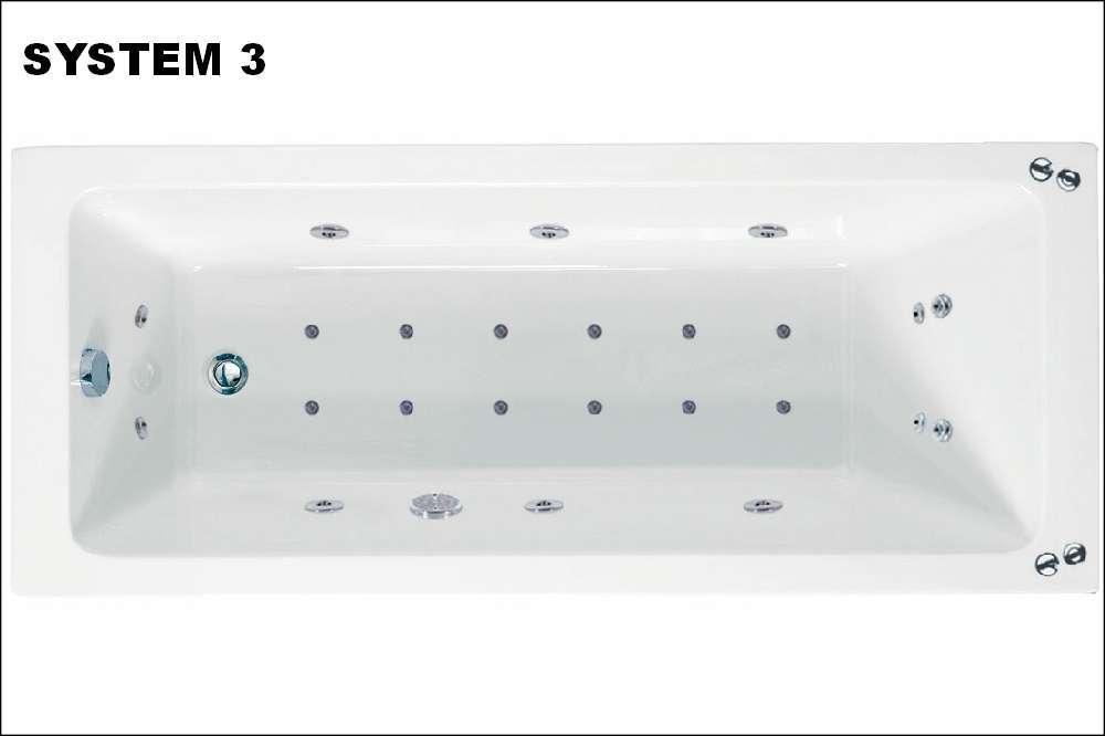 Rectangularo 1800mm X 800mm Single End Whirlpool Bath, Phoenix ...