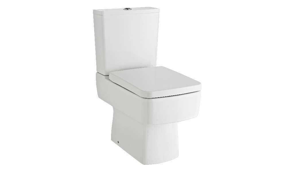 bliss close coupled toilet including soft close seat under