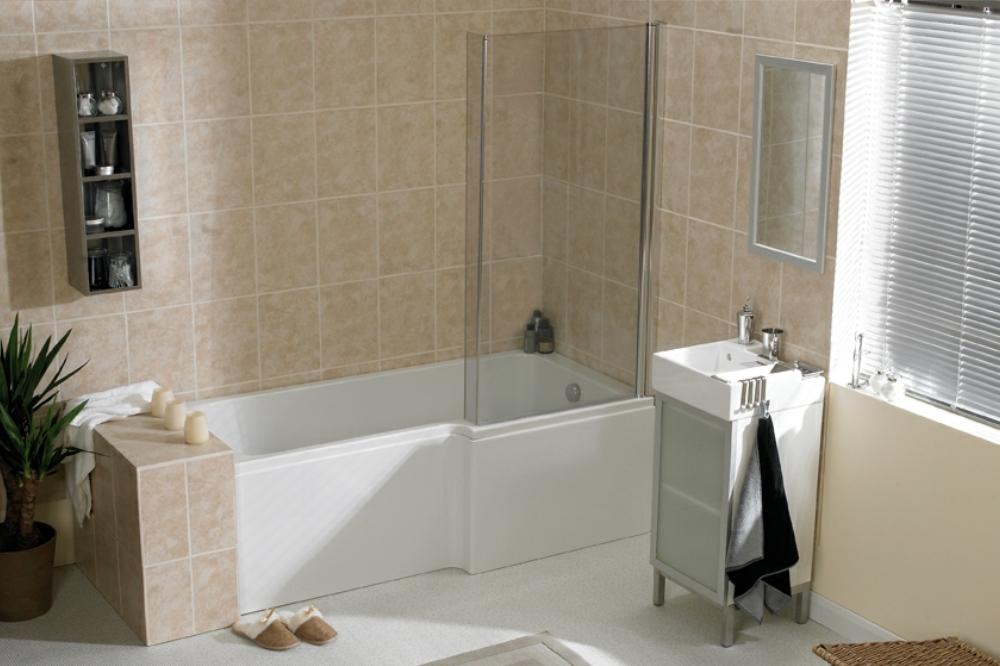 Shower Baths | L Shaped Shower Bath | P Shaped Shower Bath