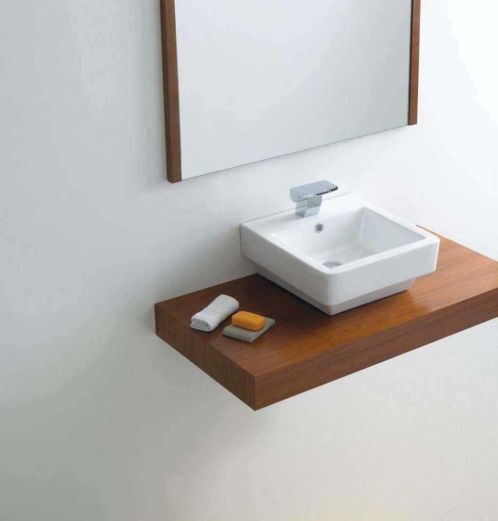 Vb036 Counter Top Or Wall Mount Basin Under Table Top & Vanity Basins. Full resolution‎  portraiture, nominally Width 1024 Height 1071 pixels, portraiture with #875B3B.